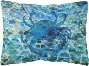 Caroline's Treasures BB5369PW1216 Blue Crab Under Water Canvas Fabric Decorative Pillow, 12H x16W, Multicolor