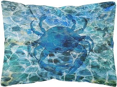 Caroline's Treasures BB5369PW1216 Blue Crab Under Water Canvas Fabric Decorative Pillow, 12H x16W, Multicolor