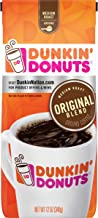 Dunkin' Donuts Original Blend Ground Coffee, Medium Roast, 12 Ounce (Pack of 2)