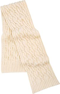 SAOL - Men's - 100% Merino Wool - Cable Knit Scarf