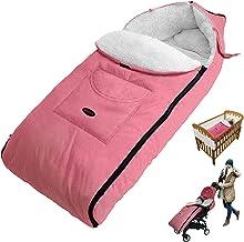 Winterfusssack, Plüsch Fußsack, Winter Baby Kuschelsäckchen, Universal Kinderwagen Schlafsack, Wasserdicht Winddicht Komfortable Foot Muff Babys über 12 Monate Pink