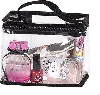 حقائب للحصول على حقيبة مكياج أقل شفافية معتمدة من إدارة أمن المواصلات لمستحضرات التجميل, , شفاف - 757450209544