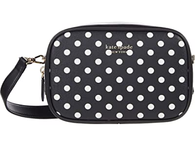 Kate Spade New York Infinite Lady Dot Medium Camera Bag (Black Multi) Handbags