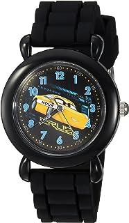 DISNEY Boys Cars 3 Analog-Quartz Watch with Silicone Strap, Black, 15 (Model: WDS000303