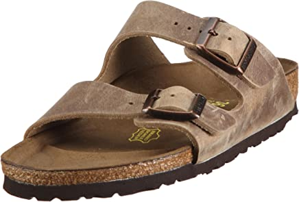 Birkenstock Men's Arizona Greased Leather Open Toe Sandals