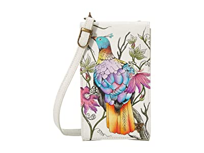 Anuschka Handbags Smartphone Crossbody 1154 (Himalayan Bird) Handbags