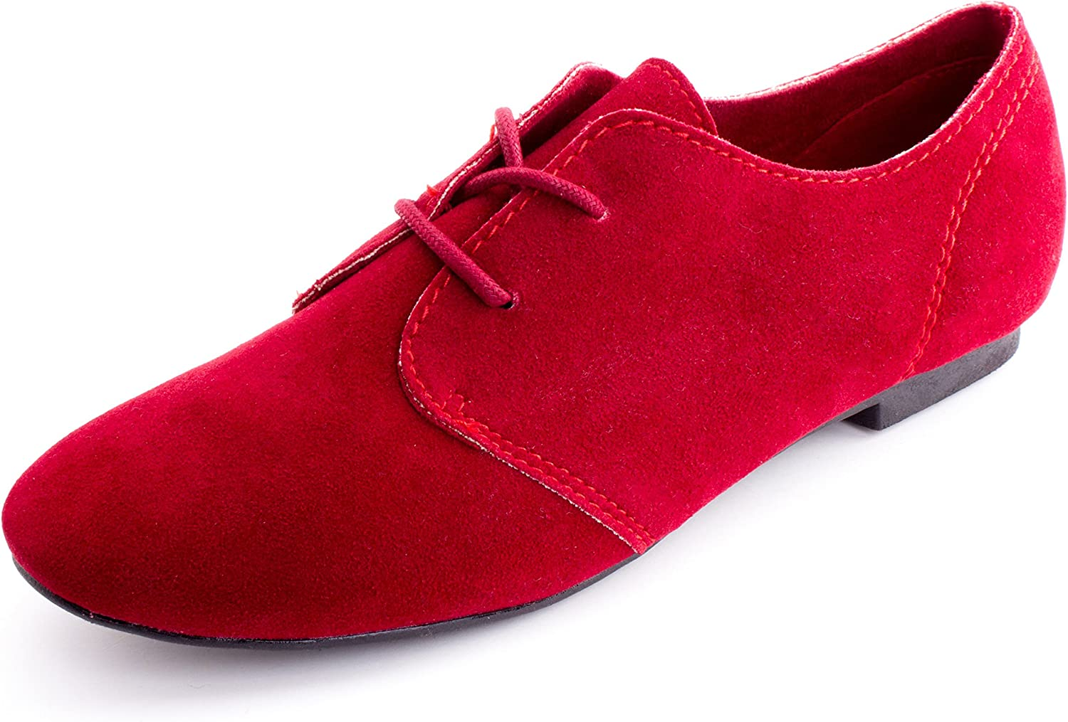 Kali Womens Lace Up Faux Suede Flat Oxford shoes (Adults)