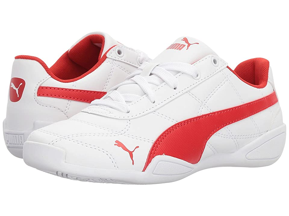 Puma Kids Tune Cat 3 (Little Kid) (Puma White/Flame Scarlet) Boys Shoes