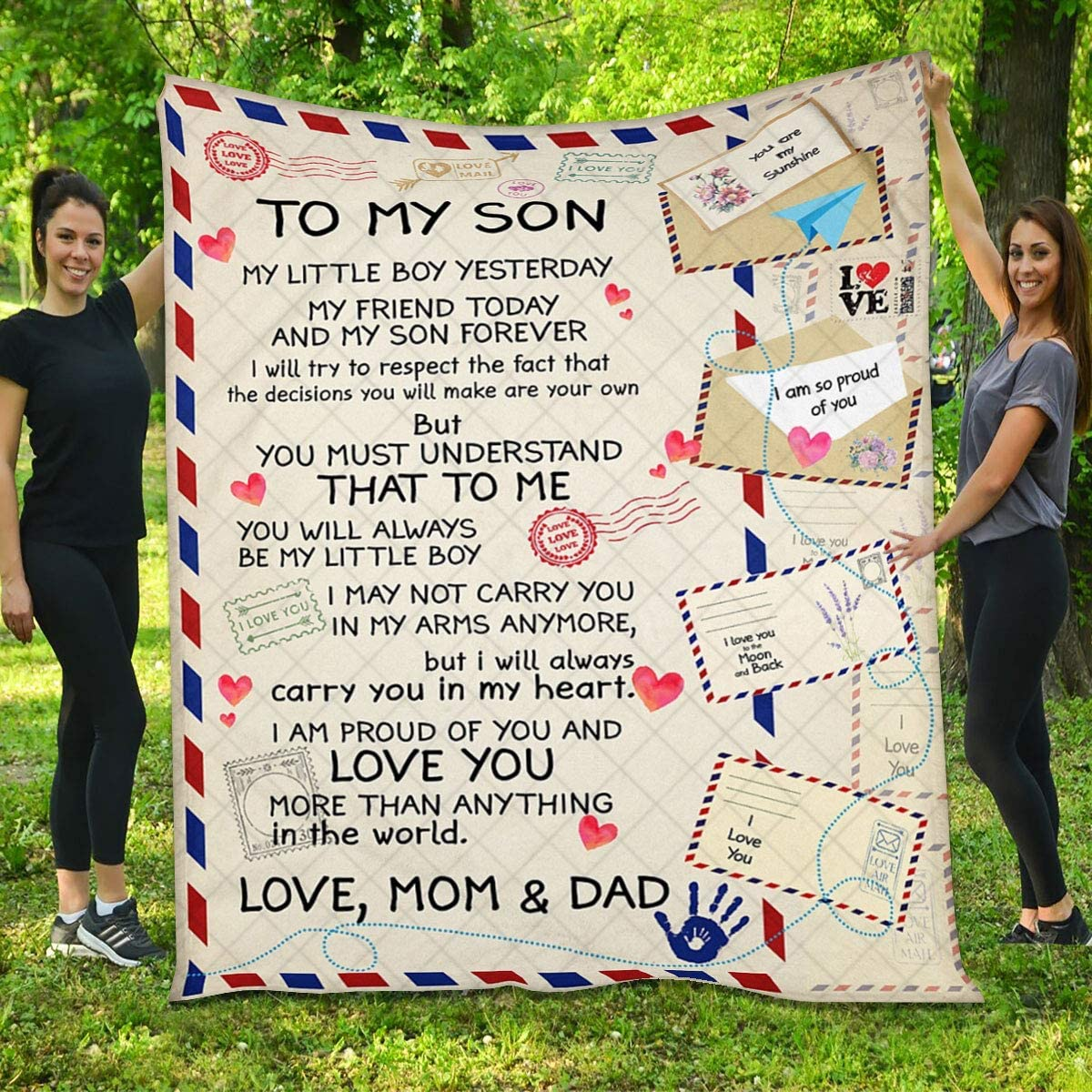 Quilt for Son - Air Mail I Gifts You of Mo from Proud Am Max 57% OFF Cheap SALE Start