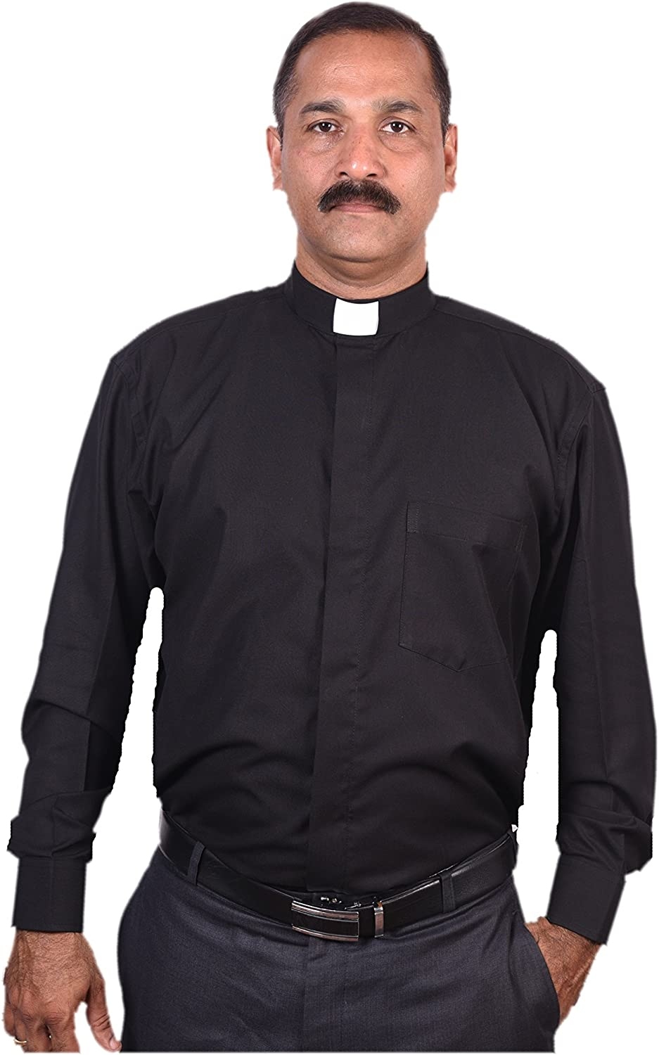 Clerical Clergy Vicar Priest Collar Men's Shirts Long Sleeves