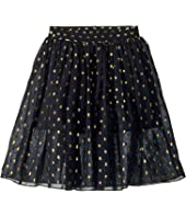 Stella McCartney Kids - Amalie Gold Polka Dot Tulle Overlay Skirt (Toddler/Little Kids/Big Kids)