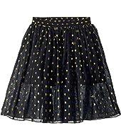 Stella McCartney Kids - Amalie Gold Polka Dot Tulle Overlay Skirt (Toddler/Little Kids/Big Kids)