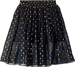 Amalie Gold Polka Dot Tulle Overlay Skirt (Toddler/Little Kids/Big Kids)