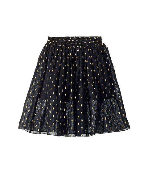 Stella McCartney Kids Amalie Gold Polka Dot Tulle Overlay Skirt (Toddler/Little Kids/Big Kids)