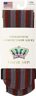 Celeste Stein Therapeutic Compression Socks, Multi-Stripe Knt, 8-15 Mmhg, Mild
