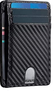T Tersely Credit Card Holder for Men, Minimalist Slim Wallet RFID Blocking Front Pocket Secure Thin Credit Card Holder (Ca...