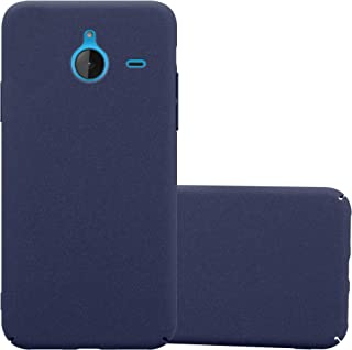 Cadorabo Case Works with Nokia Lumia 640 XL in Frosty Blue – Shockproof and Scratch Resistent Plastic Hard Cover – Ultra Slim Protective Shell Bumper Back Skin
