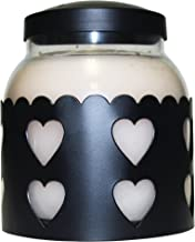 A Cheerful Giver Large Black Heart Candle Sleeve
