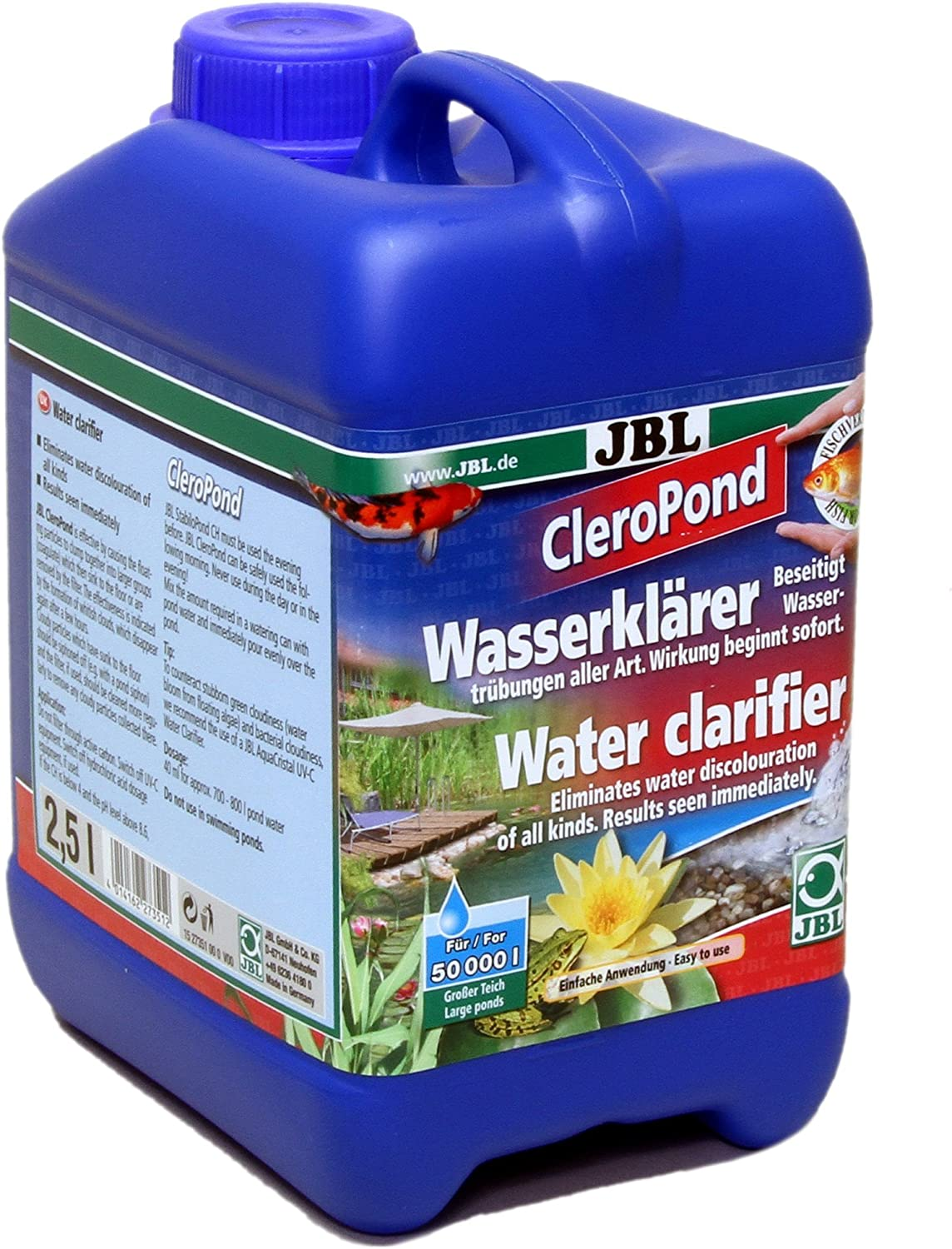 JBL CleroPond 2,5 l, Water clarifier for the elimination of water cloudiness