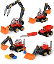 Construction Take Apart Tractor Toy & Build Your Own Tractor & Sand Truck Screwdriver Included with 42 Piece Constructions Set Amazing Toy for Boys and Girls