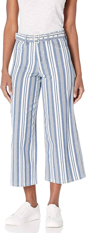 Skinnygirl Women's Barry High Rise Wide Leg Cropped Jean