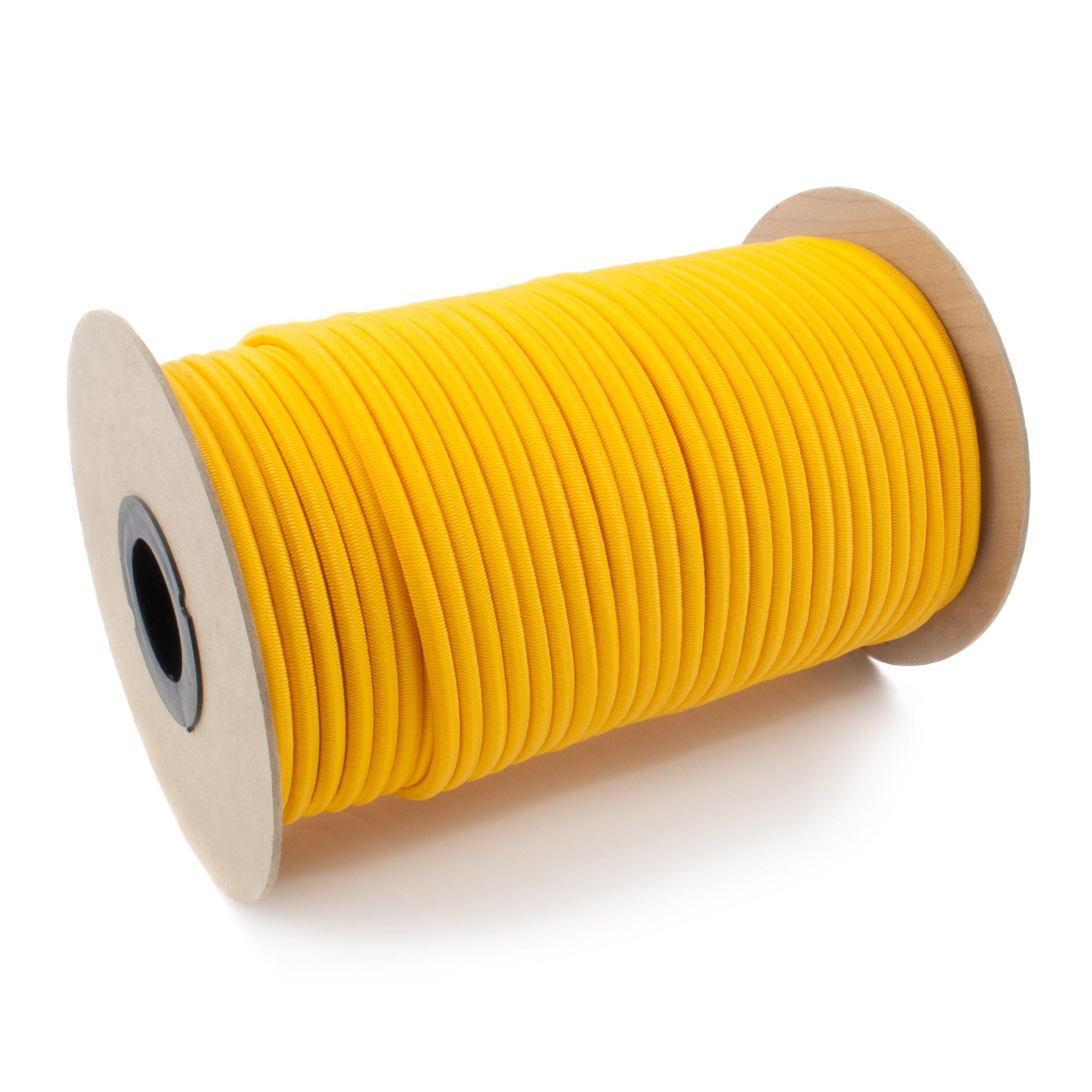 DQPP 20m cuerda el/ástica goma 5mm negro atar