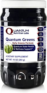 Quantum Greens, 10oz Powder - Super Nutrition Greens Formula with Grass-Plus Blend for Quantum-State Health and Vitality S...