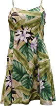 product image for Paradise Found Womens Orchid Jungle Princess Seam Mini Sundress in Green - L