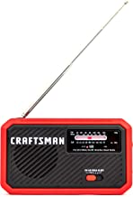 Craftsman CMXZRAZW822 Weather Radio, Rechargeable with Integrated Solar Panel and Led Flashlight