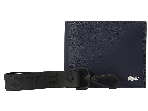 Lacoste Peacoat pequeño caja Billetero Fob regalo billetera con llavero de 4aO4rx