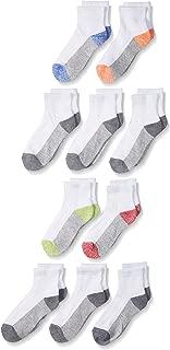 Fruit of the Loom Boys' 10 Pack Ankle Socks