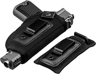 JetSur IWB Holster|Hand Gun Holster for Concealed Carry with Magazine Holster| Fits all firearms S&W M&P Shield 9/40 1911 Taurus PT111 G2 Sig Sauer Glock 19 17 27 43