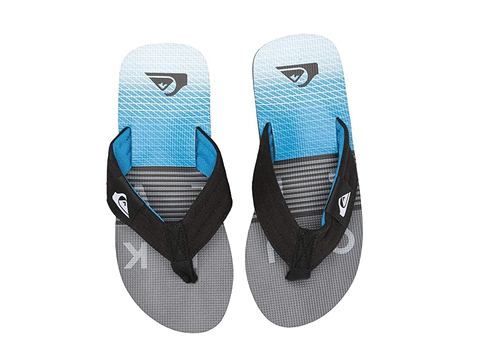 Quiksilver Kids Molokai Layback (Toddler/Little Kid/Big Kid) (Black/Grey/Blue) Boys Shoes