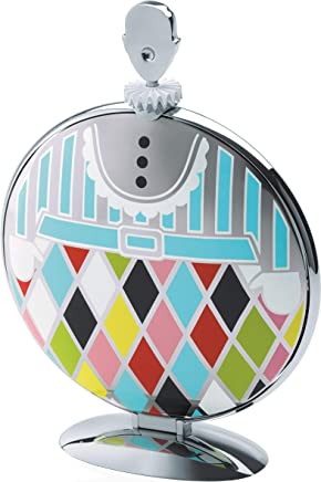 """Alessi""""Fatman"""" Folding Cake Stand in 18/10 Stainless Steel Mirror Polished With Decoration, Multicolor"""
