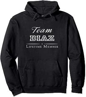 Team Diaz Lifetime Member Personalized Surname Pullover Hoodie