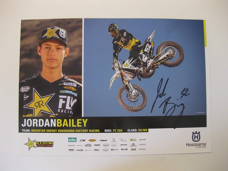 Jordan Bailey supercross motocross Regular store Selling 11x17 autographed signed