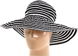 Ribbon Braid Hat Large Brim Stripe
