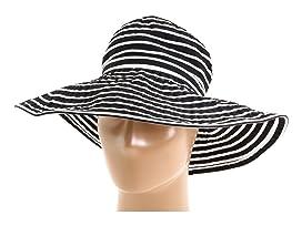 Ribbon Braid Hat Large Brim Stripe