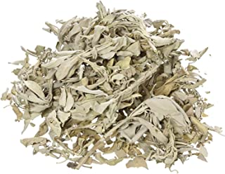 Incense Garden California White Sage Loose Leaves, Salvia Apiana Clusters, Dry Smudging & Burning Sage, 1 Lb Bag