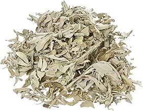 Incense Garden California White Sage Loose Leaves, Salvia Apiana Clusters, Dry Smudging & Burning Sage, 1 Lb Bag