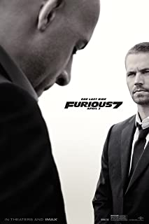 Fast and Furious 7 Movie Poster (24 x 36) (Thick) Paul Walker, Vin Diesel, The Rock, Michelle Rodriguez