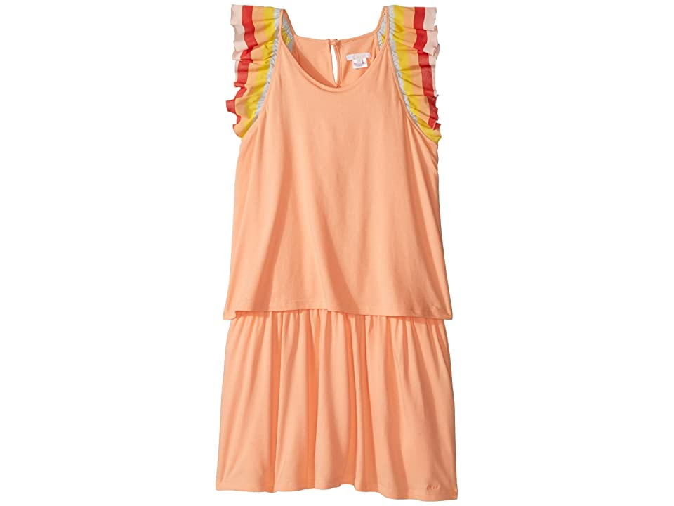 Chloe Kids Rainbow Ruffles Short Sleeve Dress From Adult Collection (Big Kids) (Sorbet) Girl