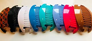 8 set Jumbo Banana Comb Clip Thick Hair Riser Claw Interlocking Jaw Extra (Multi-colored)