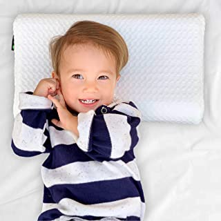 Tiny House Toddler Pillow, Cotton, Waterproof, Baby, Cot, Kids First Pillow [Extra Pillowcase Included]