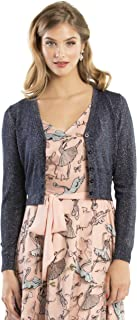 Review Women's Chessie Shimmer V-Neck Cardi Navy Shimmer