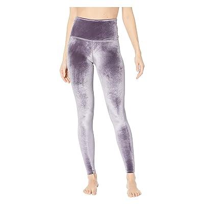 Beyond Yoga Velvet High-Waisted Midi Leggings (Deep Amethyst) Women