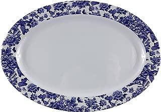 Melamine dinnerware, Oval Plate set of 6, ARC USA, 100% Melamine, FDA Safe, Elegant, Heavy Duty, 12