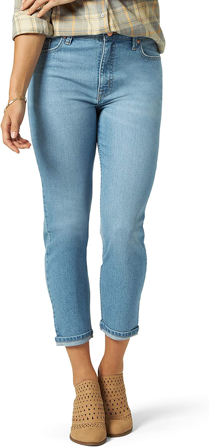 Riders by Lee Indigo Women's Heritage High Rise Relaxed Fit Skinny Ankle Jean