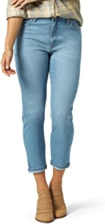 Riders by Lee Indigo Womens ZFRV4I7 Heritage High Rise Relaxed Fit Skinny Ankle Jean Jeans - Purple