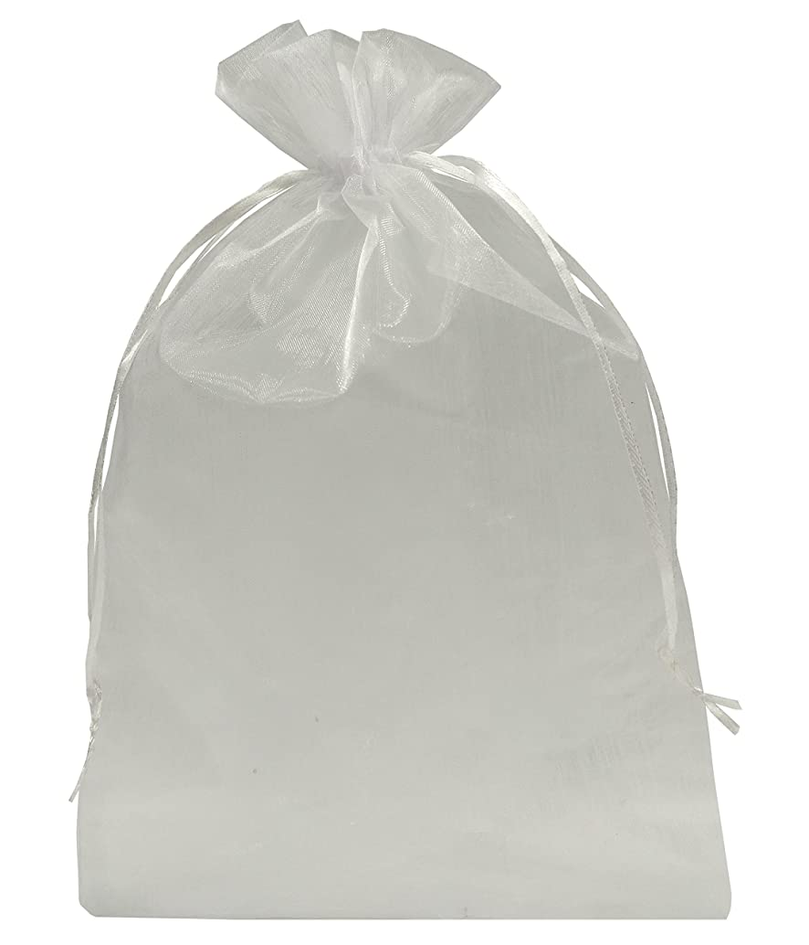 Ankirol 100pcs Sheer Organza Favor Bags 8 X 12